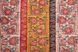 Indian Kashmir Shawl Fragment  70 x 94 cm/ 27 x 37 inches