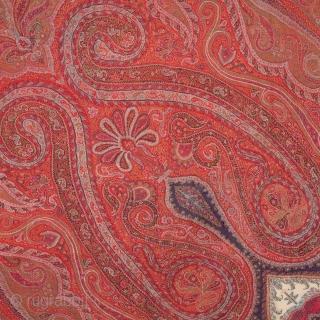 Kashmir Shawl  177 x 195 cm /5'9'' x 6'4