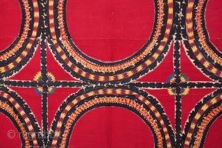 Central Asian Tashkent Suzani 203 x 262 xm / 6'7'' x 8'7''