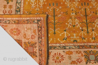 13101 Antique Ushak Carpet 315x287cm Circa 1900