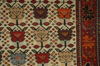 #7678 Chidroo (South Persian, Jahrom), 154x100cm, Circa 1930, Very fine unusual design and colour in very good condition.