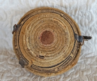 Antique Tibetan woven bowl container.