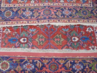 "Antique Persian Heriz rug , 6' x 9"", circa 1900"