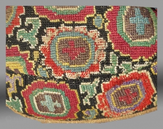 Uzbek Embroidered Hat, Central Asia, late 19th century