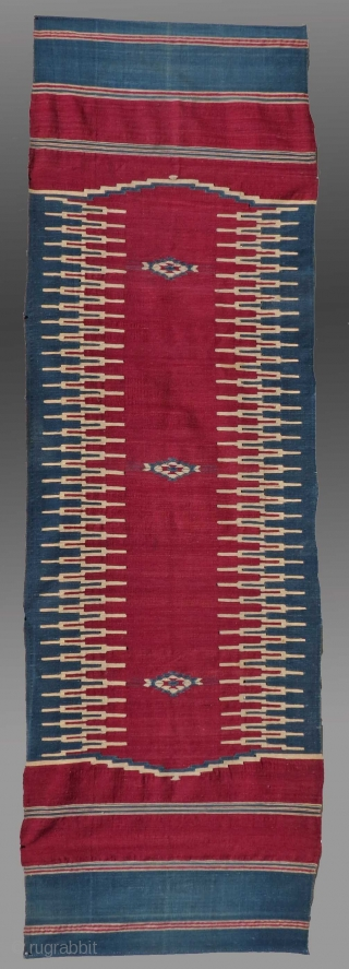"Flat Woven Runner, Middle East, circa 1900, 2'10"" x 9'3""