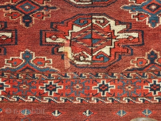 """Turkmen """"Chuval"""", Yomut Group, Central Asia, 19th C., 3'4"""" x 2'6""""  $575 + shipping"""