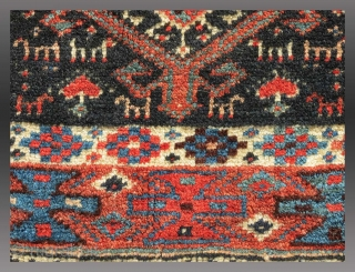 """Veramin """"Chanteh"""" (personal bag) or Bag Face, N. Persia, 19th C., 18"""" x 13""""  Please inquire for further information and/or images"""