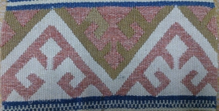 Antique Norwegian kilim sampler, no: 319, size: 63*28cm, wall hangings.