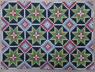 Antique Swedish embroidery(wool) on linen, no: 298, size: 48*65cm, wall hangings.