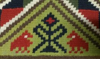 Antique Swedish kilim(Rolakan technique), no: 321, size: 98*58cm, pictorial design, wall hangings.