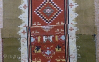 Antique Swedish kilim, no: 287, size: 175*47cm, wall hangings.