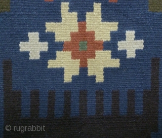 Antique Swedish kilim(Rolakan technique), no: 323, size: 73*64cm, wall hangings.