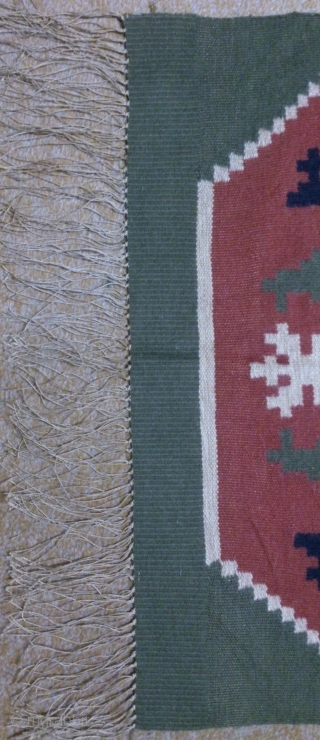 Antique Swedish kilim(Rolakan technique), no: 324, size: 76*56cm, pictorial design, wall hangings.