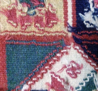 Antique cushion Swedish kilim(Rolakan technique), no: 335, size: 48*42cm.