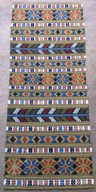 Antique Swedish kilim, no: 288, size: 124*51cm, wall hangings.