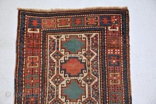 Rare Kazak rug 19th century, size is 146 x 88 cm