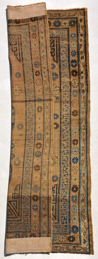 Khotan circa 1850 or Early in good condition, size is 234 x 118 cm