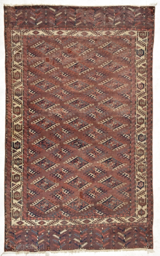 A Collectors Yomut circa 1850 or earlier, low pile but very interesting, size is 305 x 186 cm