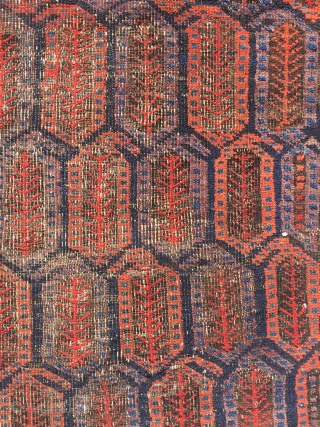Rare Baluch Rug, worn but sill lovely