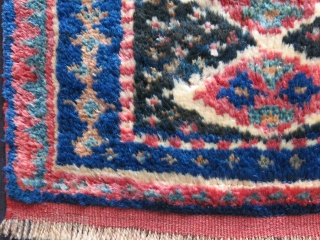 "Luri - Baktiyar Nomadic bag face - Thick pile with saturated natural colors. A minor hole restored. couple warps/weft breaks have secured with stitcing. size: 21"" X 18"" - 54 cm X  ..."