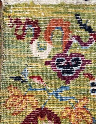 Tibet carpet 19th century.—size—2'5x1'11 ft—75x58cm.