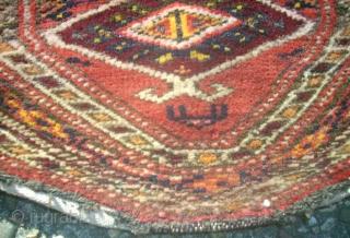 Antique Tekke Turkmen piece. Size: 24 x 36 cm.