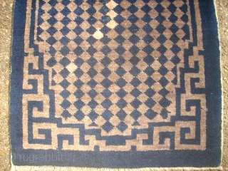 Antique chinese small rug. Size: 57 X 112 cm. Used.