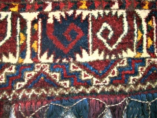Old turkmen Kapunuk. Size: 170 x 30 (60) cm. Very good condition.