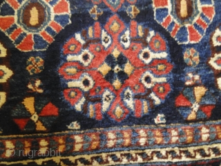 Sold. Large lush Antique south west Persian village rug.  Circa 1900-1930.    Great colors, good wool, good condition. Minor wear - otherwise good condition.  Click for more photos and details: https://wovensouls.com/collections/antique-persian-central-asian-caucasian-rug-textiles-carpet?ls=en