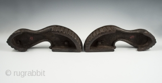 "Khadau chappals or paduka, India, Wood, 10"" (25.3 cm) long, Late 19th to early 20th century.