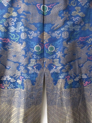 Chinese Antique Dragon Robe, Qing Dynasty