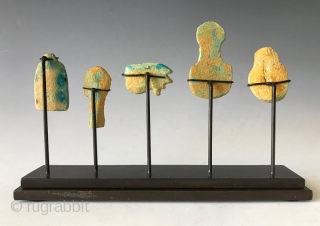 Rare Faience Egyptian Amulets