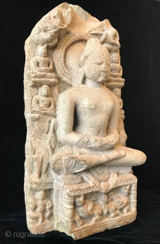 Antique Jain Sandstone Stele with a Jina