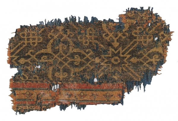 Benaki Timurid Carpet Fragment, circa 15th century