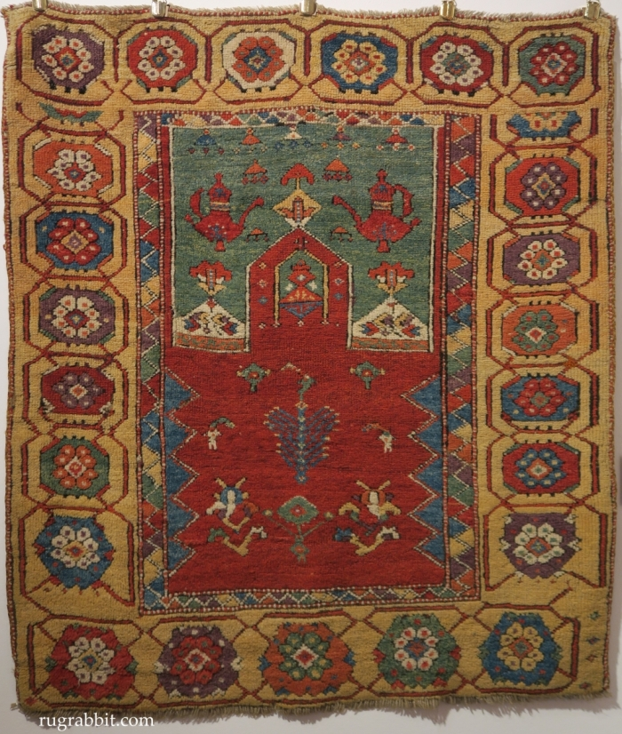 Rugs from the Christopher Alexander Collection at Sotheby's: central Anatolian prayer rug