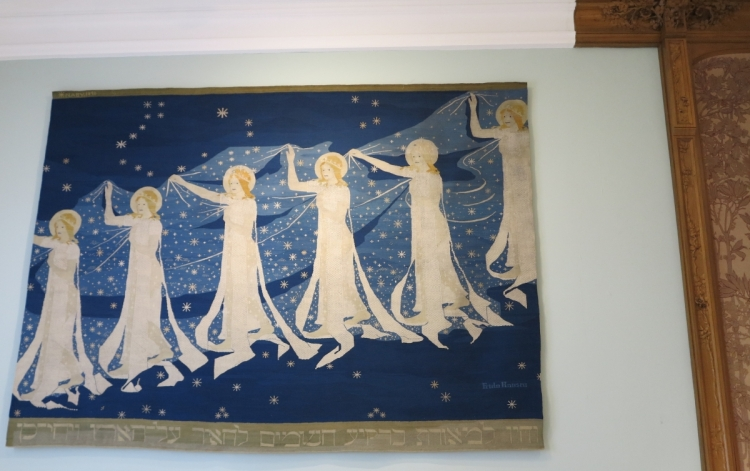 """The Milky Way"" (Melkeveien) tapestry by Frida Hansen, Oslo, 1898"