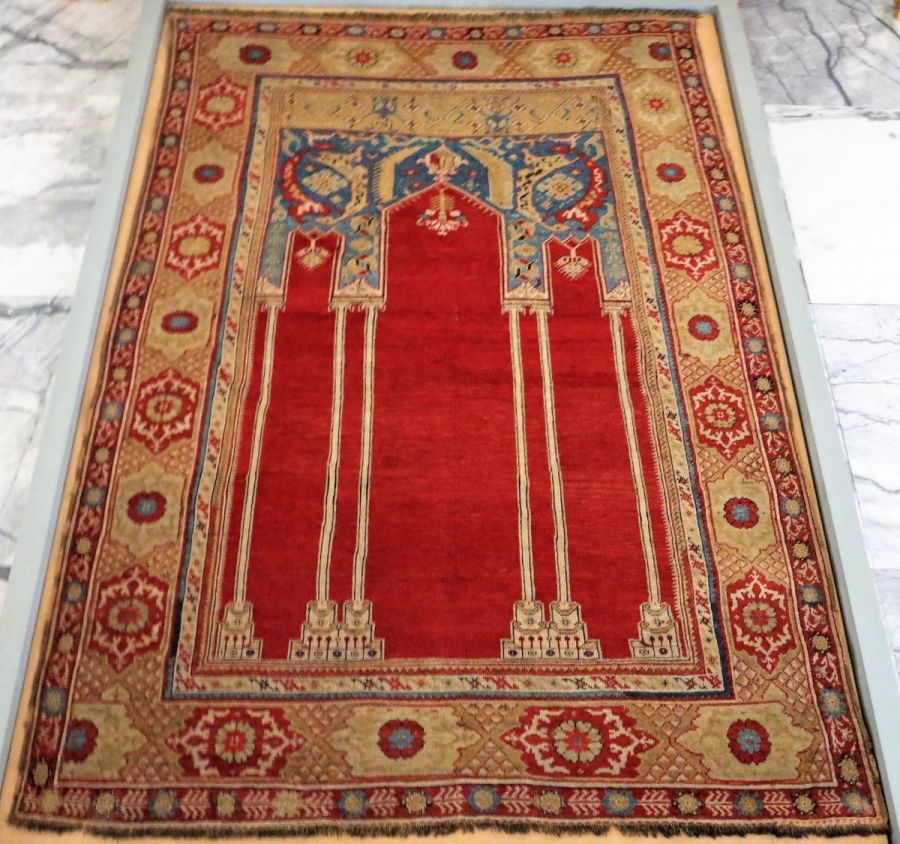 Transylvanian type Turkish Prayer Rug